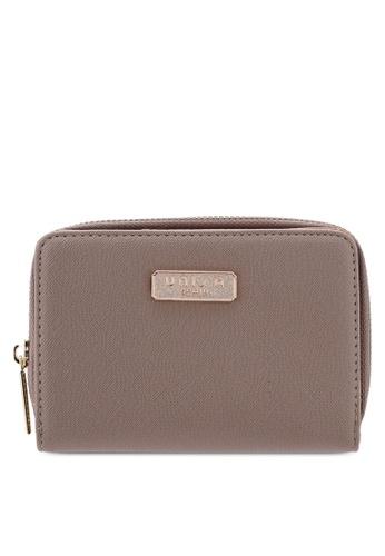 Unisa brown Saffiano Medium Ladies Zip-Up Wallet 4CDCDAC02FD00BGS_1