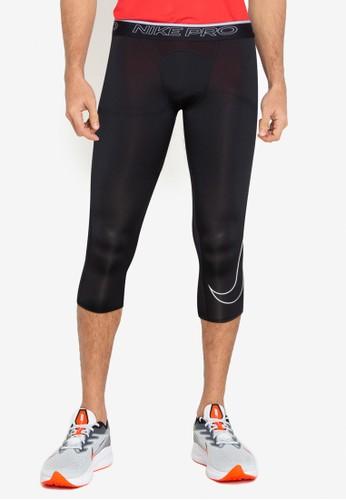 Nike black Dri-FIT 3Qt Tights 212AEAA6DFF09EGS_1