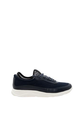 SEMBONIA blue SEMBONIA Men Microfiber & Fabric Sneaker (Dark Blue) F168ASH2C1066BGS_1