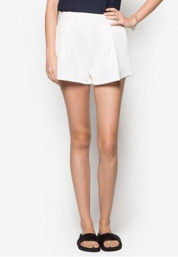 zalora 內衣褶飾高腰短褲, 服飾, 短褲