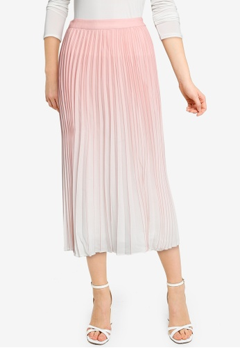 Forever New pink Odessa Ombre Pleated Skirt 26672AA4369FA3GS_1