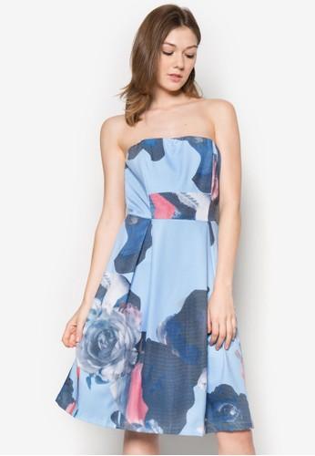 Marissa 印花平zalora時尚購物網評價口洋裝, 服飾, 夏日洋裝