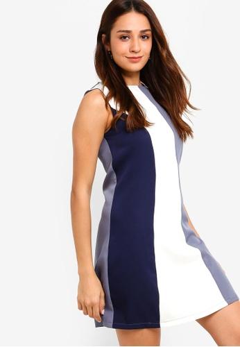 ZALORA multi and navy Colourblock Sleeveless Dress 201DDAA103EC08GS_1