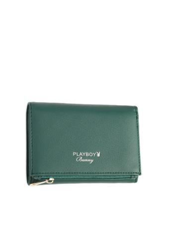 PLAYBOY BUNNY green Women's Tri-Fold Purse With Coin Complartment BD3EAAC25B4111GS_1