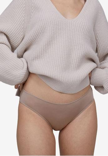H&M grey and beige Modal Bikini Briefs 1F585USEF728C4GS_1