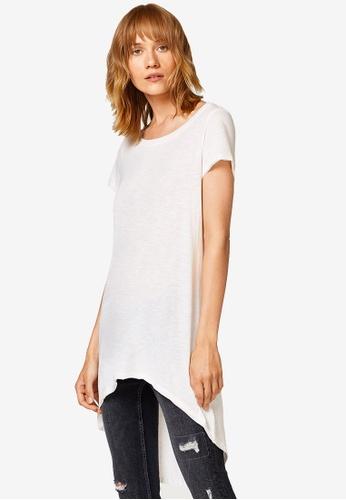 ESPRIT white High Low T-Shirt 070A2AAACB0CC1GS_1