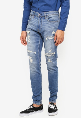 Hollister blue Super Skinny Jeans 90E09AA2B37FF3GS_1