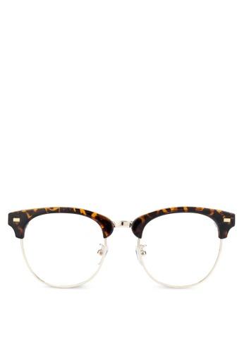 Mr. Edward 半框平光眼鏡, 飾esprit outlet 高雄品配件, 飾品配件