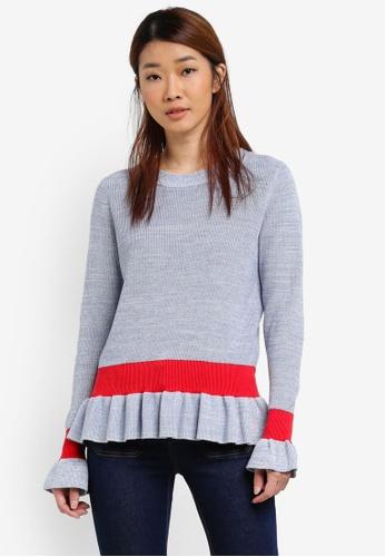 Selected Femme blue Knit O Neck Top SE157AA0SEDDMY_1