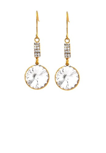 Glamorousky silver Trendy Round Earrings with Silver Austrian Element Crystal 59315AC85B571EGS_1