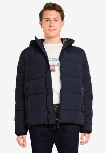 Indicode Jeans navy Axworthy Hooded Parka Jacket 19058AA58E0A6AGS_1