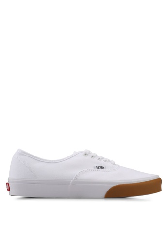 VANS white Authentic Gum Bumper Sneakers VA142SH0SWMSMY_1