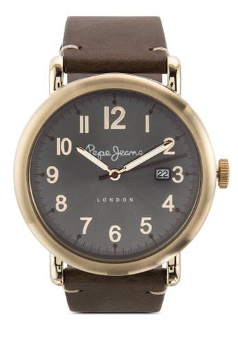 R23511050esprit地址07 Charlie 數字皮革手錶, 錶類, 飾品配件