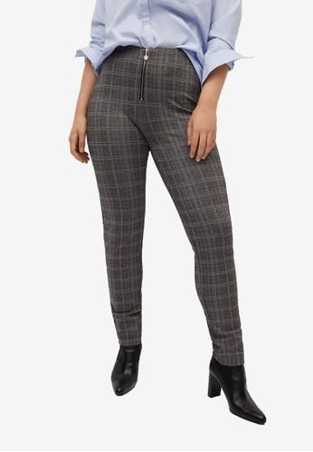 Violeta by MANGO grey Plus Size Printed Zip Leggings B880FAA8EE86C5GS_1
