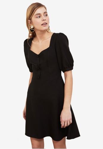 Trendyol black Sweetheart Neckline Puff Sleeve Dress 16F10AAD1C0A6EGS_1