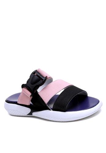 Twenty Eight Shoes 粉紅色 彈力織帶獨特鞋底拖鞋 VS1848F 889DASHC5701A2GS_1