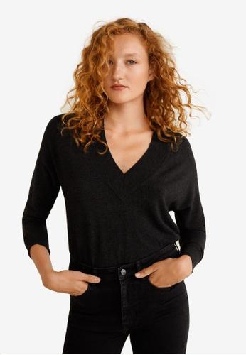 Mango grey V-Neckline Sweater 93BB3AA63D04F2GS_1