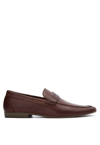 Sledgers brown Ira Classic Penny Loafer SL142SH0JWJQPH_1