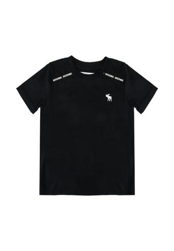 Abercrombie & Fitch black Fashion Logotape T-Shirt 1E7B4KA8AD8280GS_1