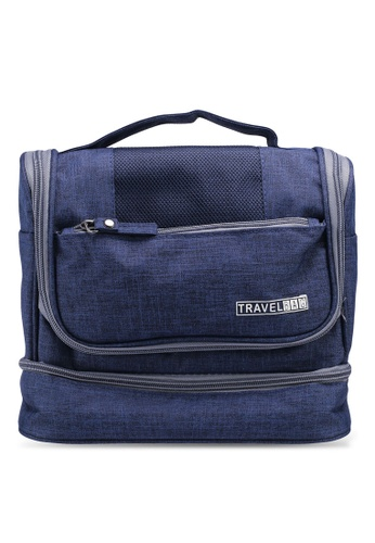 Bagstationz navy Ligthweight Water-Resistant Travel Toiletries Large Pouch 259F3AC196B9E5GS_1