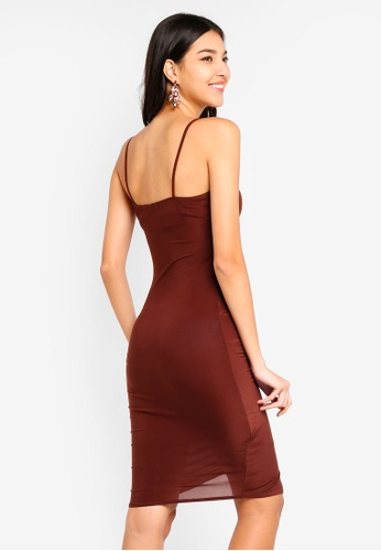 Buy MISSGUIDED Strappy Slinky Wrap Mini Dress Online on ZALORA Singapore 13e38d8ae