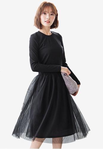 Sesura black Tulle Wonderland Frou Dress F6DA2AA4117AFDGS_1