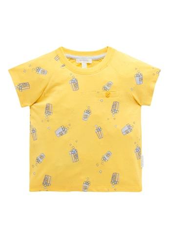 Purebaby yellow Popcorn T Shirt DF2E8KAEB92407GS_1