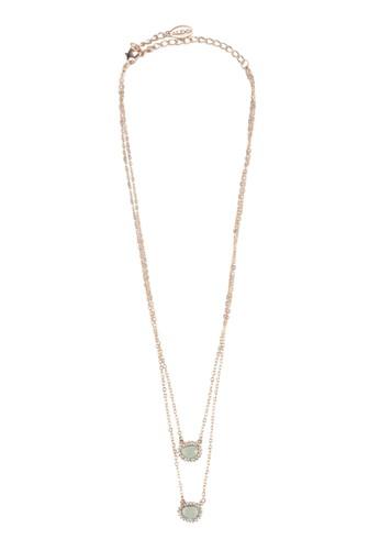 Cornazalora 手錶cchia 吊飾雙圈項鍊, 飾品配件, 項鍊