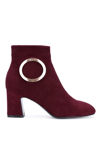 Byford red Mersey Heel Suede Ankle Boots 65B83SH2A2A3BDGS_1