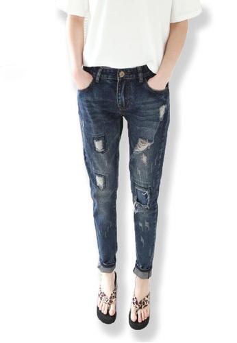 Sunnydaysweety blue Simple Jeans A0226040 E5088AA10F0C69GS_1