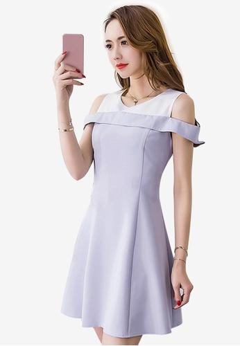 Sunnydaysweety purple Sweet Light Polyester One-piece Dress EA447AA1EA3347GS_1