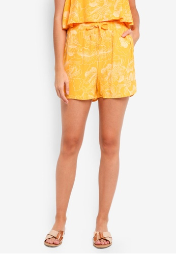 ICHI yellow Damia Shorts 41CD2AA13CD04CGS_1