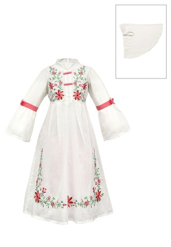 ESTRELLA white Muslim Dress Anak ESM 171 6/12 66D4BKADF679D1GS_1