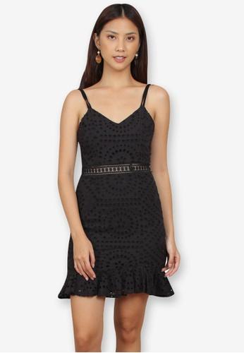 Caoros black Mini Peplum Dress 39A8CAA68188ACGS_1