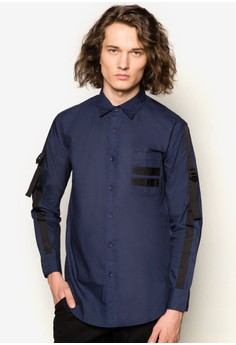Webbing Strap Long Sleeve Shirt