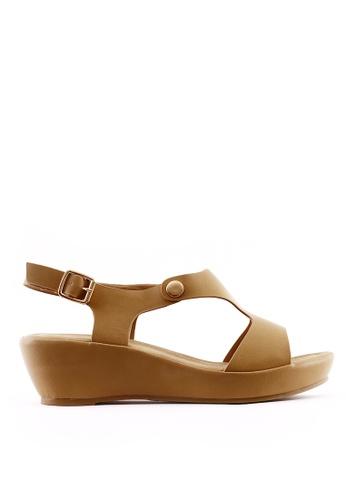 7soles beige Aerene L Wedge Sandals A0542SH6D4874CGS_1