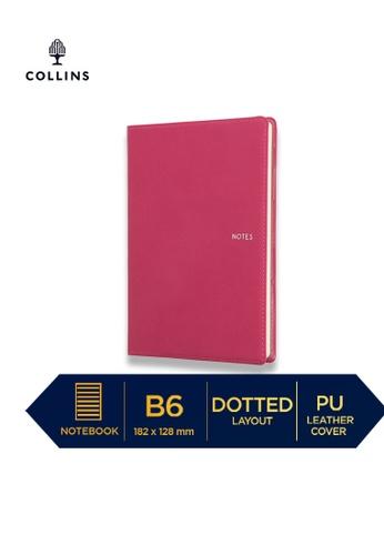 Collins pink Collins Metropolitan Melbourne  ─  Notebook B6 Dotted Pink B8DF3HL3C5DF09GS_1