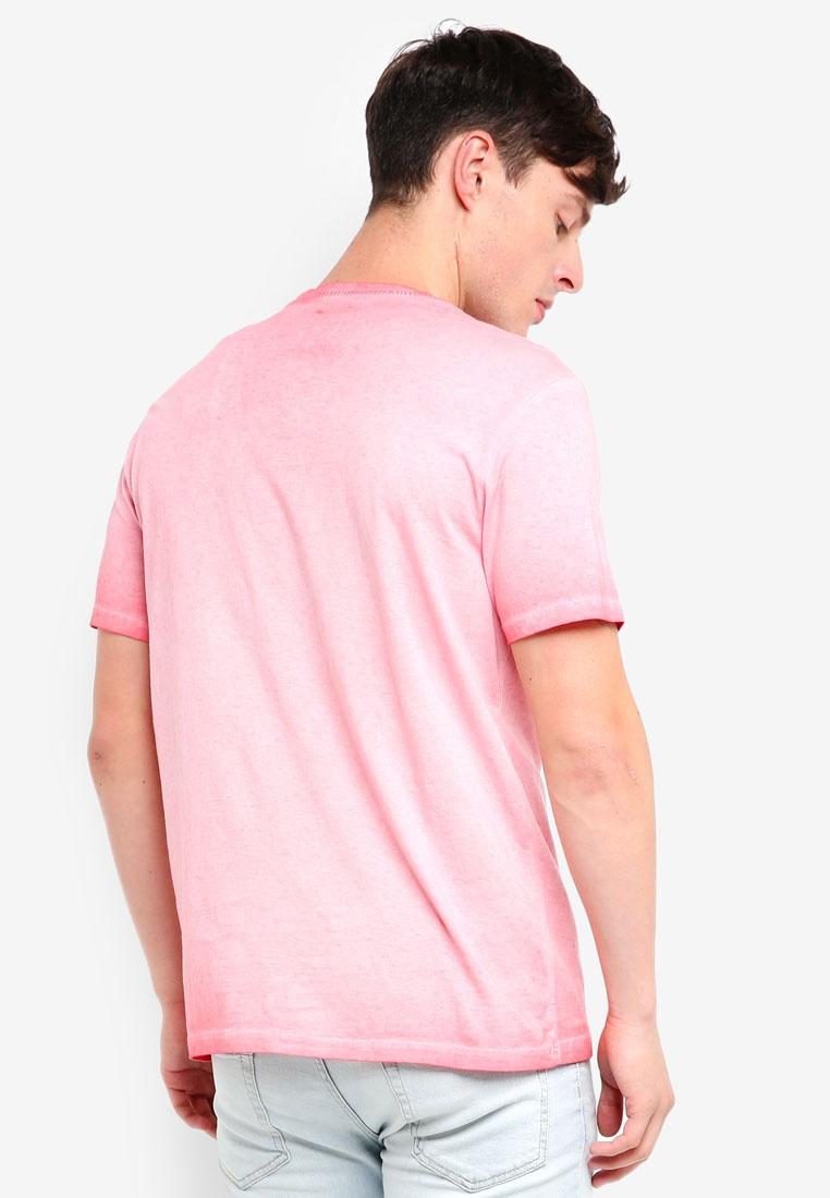 Pink Bay Coral T London Menswear Burton Golden Shirt Washed OSqx687