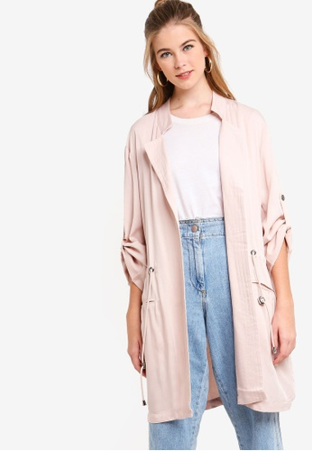 Something Borrowed pink Lightweight Parka 01858AA65D0E4AGS_1