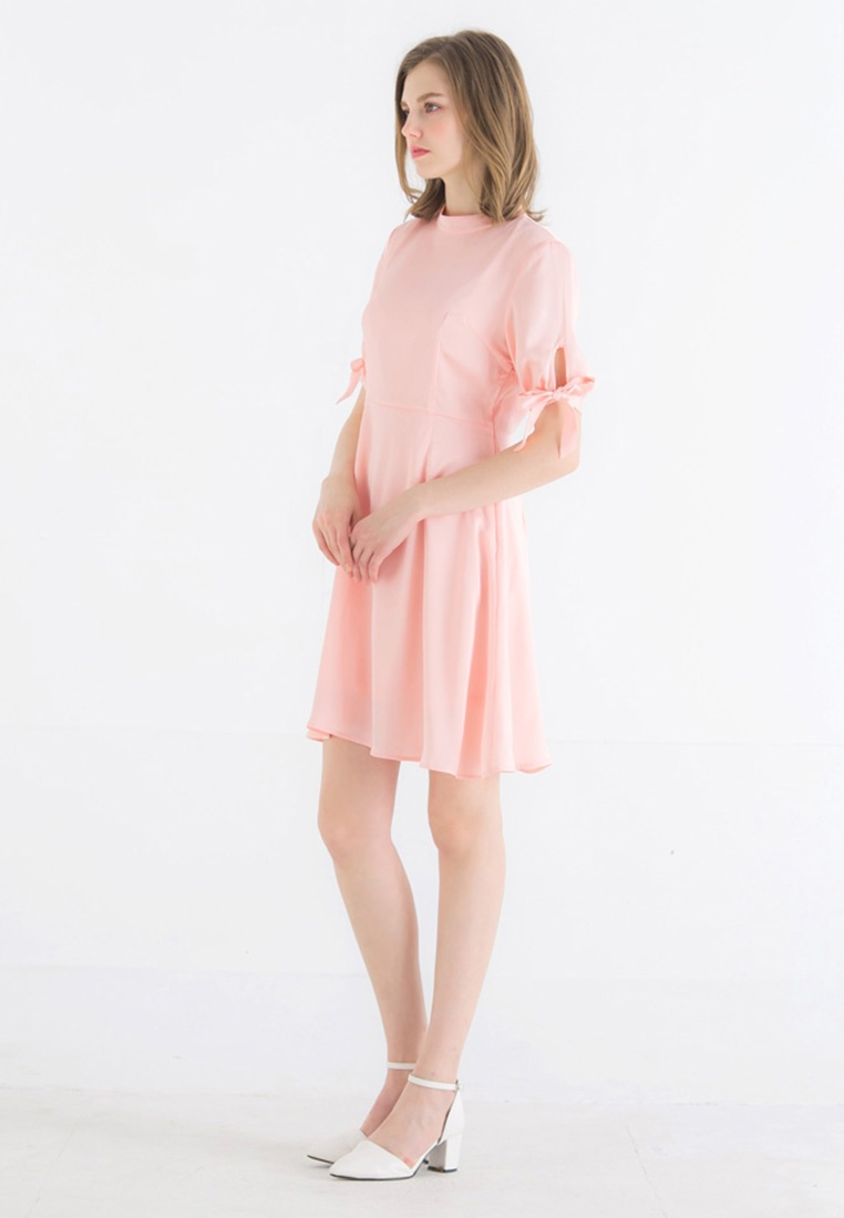 Pink Kodz flare Fit and Satin Dress S7wyvOyqx6