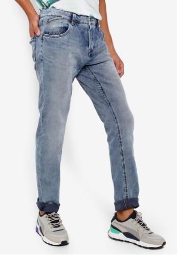 OVS 藍色 鈕釦Fly 牛仔褲 752A4AA4FF0ED9GS_1