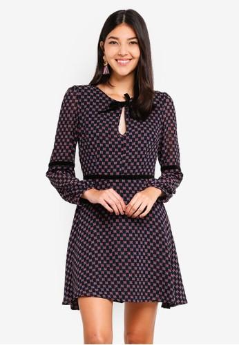 Glamorous multi Spotted Keyhole Dress 89898AABCF8095GS_1