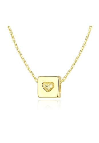 SUNRAIS gold Premium Silver S925 Gold Heart Necklace 6DB6EAC1CA8135GS_1