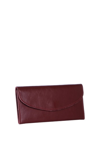 Dazz red Calf Leather Simplicity Wallet - Red DA408AC86KLTMY_1