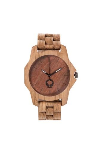 柔和系列咖啡棕橡木錶尖沙咀 esprit, 錶類, 時尚型