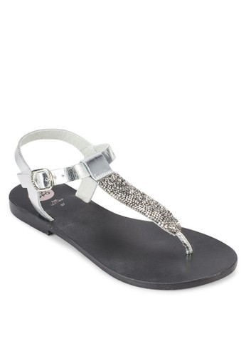Tille 蛇紋夾趾涼esprit手錶專櫃鞋, 女鞋, 鞋