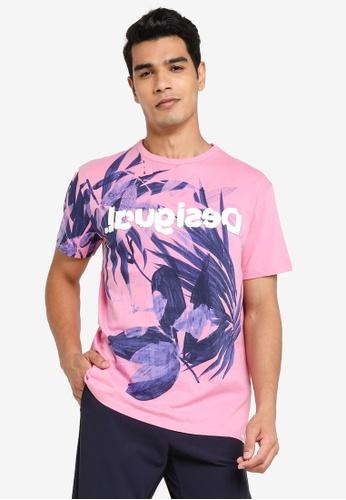 Desigual pink Carles Floral T-shirt 31CD4AADB14627GS_1