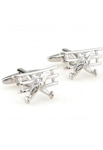 The Little Link Cufflinks silver Fighter Jet cufflinks TH089AC0G4XGSG_1