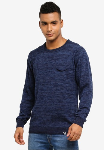 Indicode Jeans multi Arjun Knitted Melange Sweater 21237AABCCB435GS_1