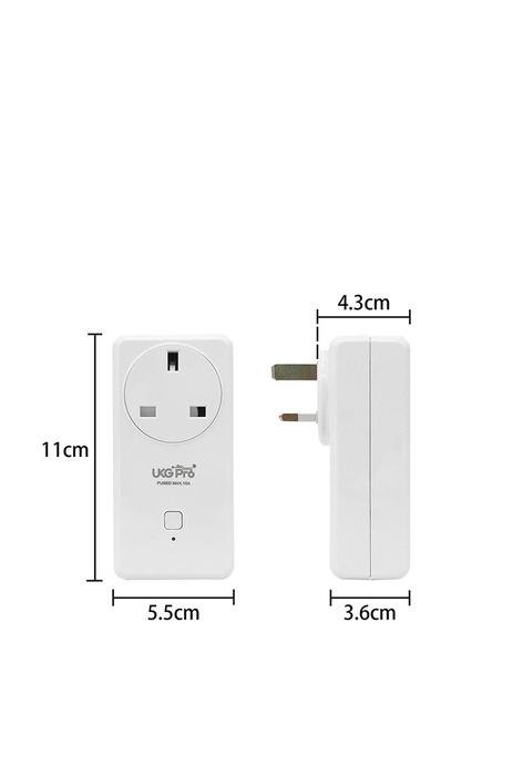 UKGPro UKG智能WiFi無線USB插座(1AC+2USB),新型智能插頭智慧插座外置智能插頭無線智能家居排程萬能插英式插頭遠端遙控開關電視風扇抽濕機語音傳統手動Smart USB Plug(USP-S220-UK)
